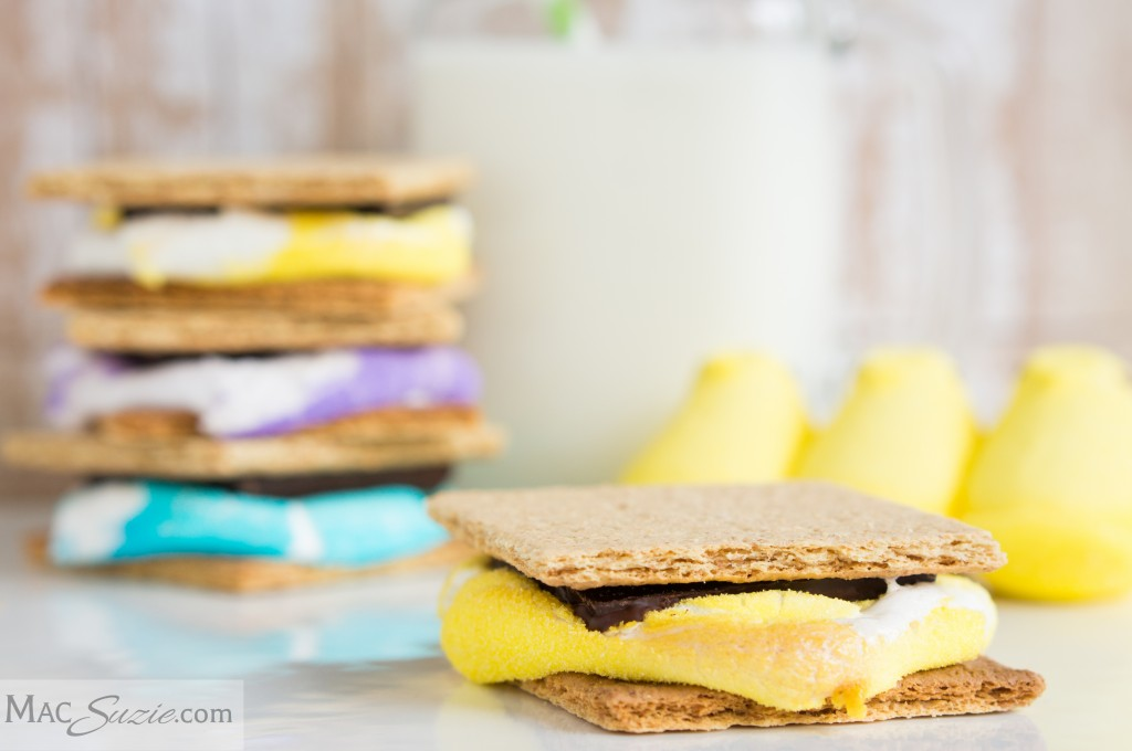 MacSuzie | S'Meeps! - A fun twist on the classic s'more and a great way to use up leftover Easter candy. :-D