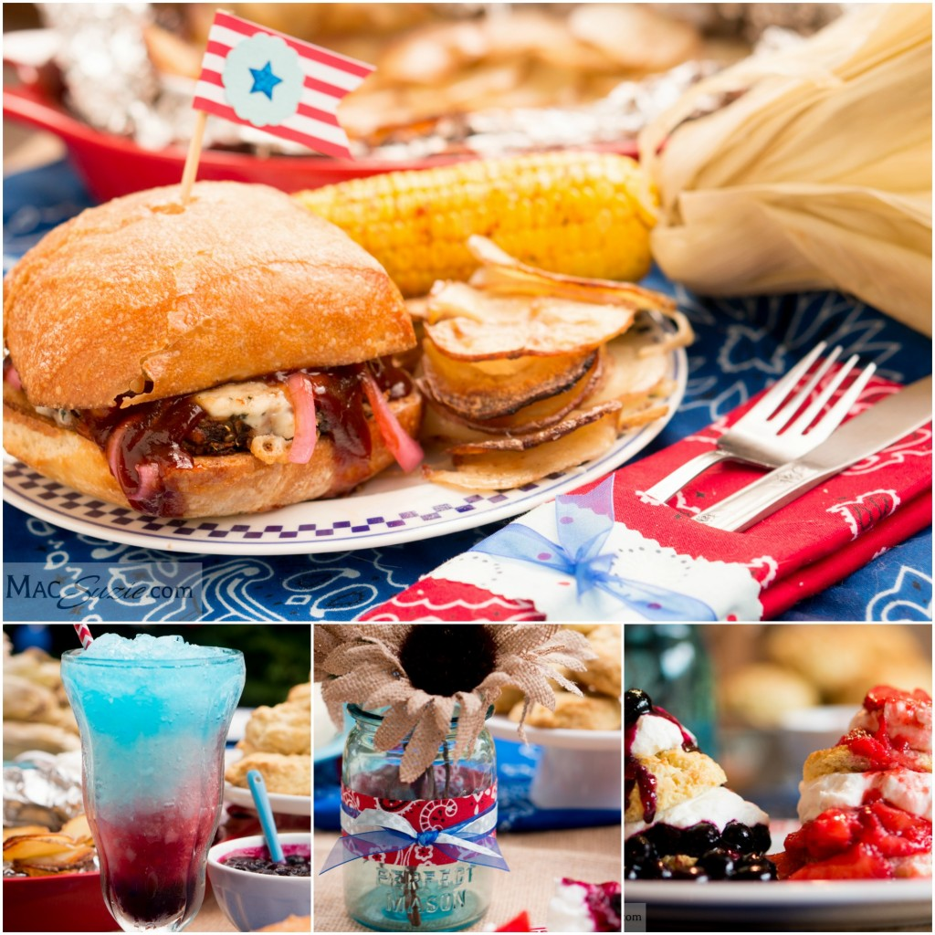MacSuzie | 4th of July Feast - Check out my party table for the 4th of July! Quick decor and easy recipes, plus a cocktail for good measure :)