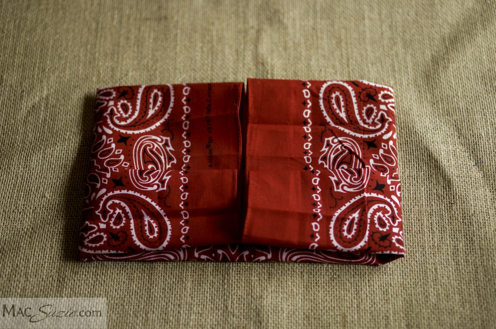 MacSuzie | 4th of July Table Decor: Bandana Napkin Pocket - such a cute way to hold silverware!
