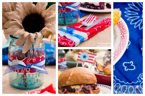 MacSuzie | 4th of July Table Decor - Quick and easy (and cheap!) table decor for your 4th of July gathering!