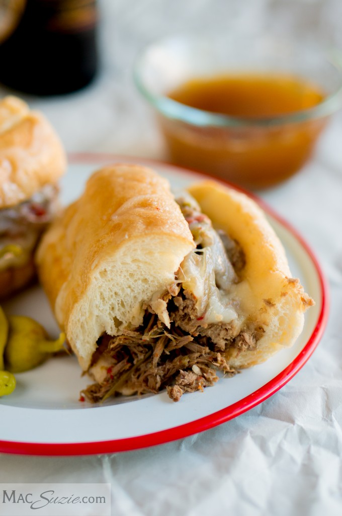 MacSuzie | My Mom's easy crock-pot Italian beef is perfect for a weeknight dinner and is GREAT for a crowd!