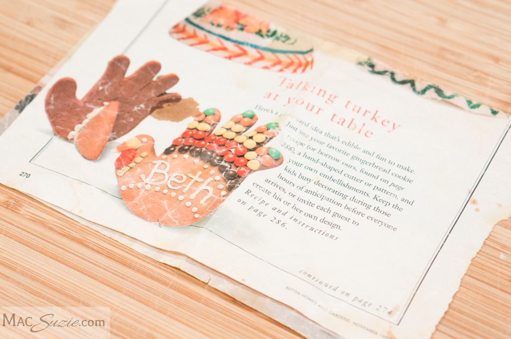 MacSuzie | Thanksgiving Turkey Cookies - A bit of frosting and candy transform handprint cookies into festive turkeys!