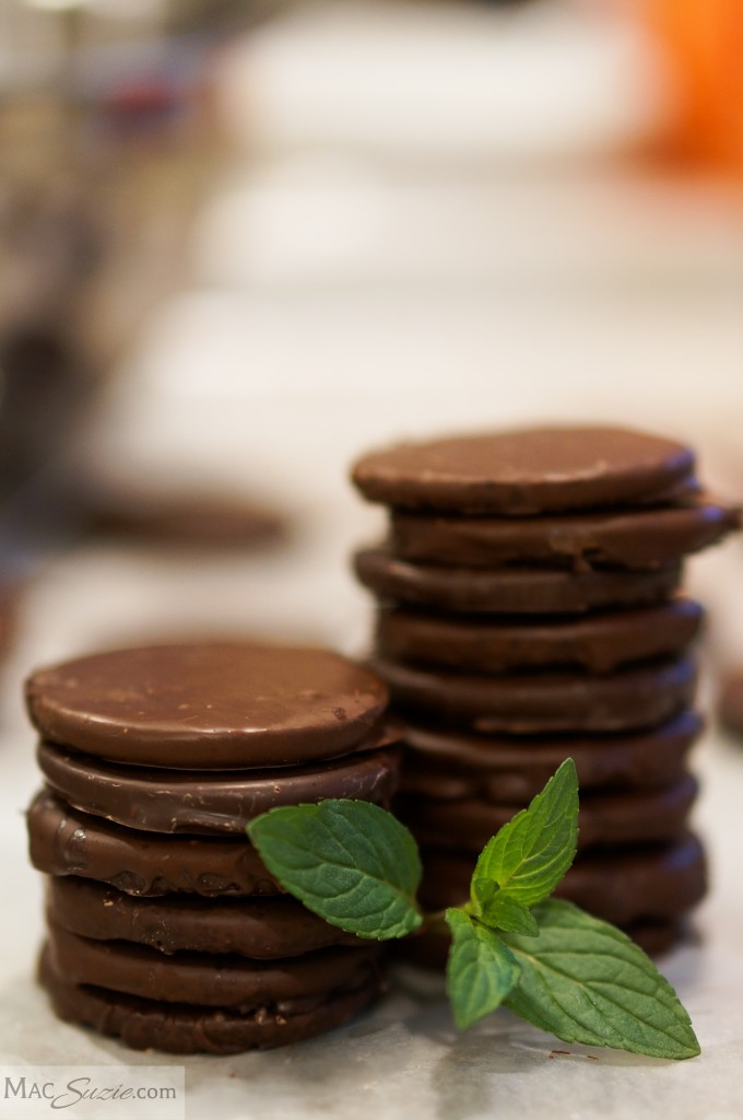 MacSuzie | Homemade Thin Mint Cookies - Miss out on Girl Scout cookie sales in your neighborhood? Make these ridiculously easy 3 ingredient Homemade Thin Mints right in your kitchen - they can even be gluten free!