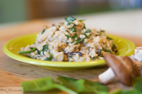 MacSuzie | Spinach and Mushroom Risotto