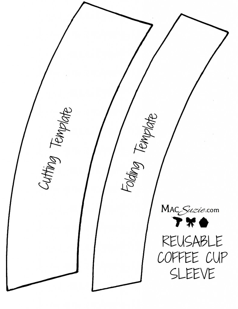 diy reusable coffee cup sleeve free printable template macsuzie