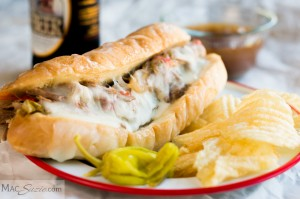 MacSuzie | Crock-Pot Italian Beef Sandwiches - My Mom's easy crock-pot Italian beef is perfect for a weeknight dinner and is GREAT for a crowd!
